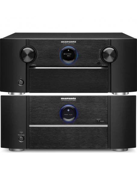 Marantz AV7706 Surround Pre-Amplifier & Marantz MM8077 Power Amplifier