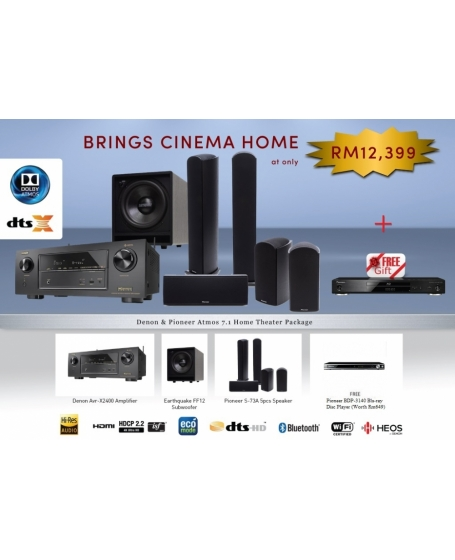 Denon & Pioneer 7.1 Atmos Home Theater Package